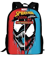 Venom ryggsäck, superhero spider-Man pojke barn skolväska multifunktionell hög kapacitet, polyesterväv födelsedagspresent