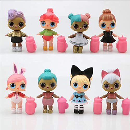 YUY LOL Surprise Collectable Fashion Dolls for Girls With 8 Surprises and Accessories Present Surprise Series 1,2ndGenerationVinyl