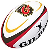 Gilbert Dragons Ballon de Rugby Taille 5, Blanc/Noir/Rouge/Or, Balls SZ 5