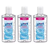 Purell Advanced Hand Sanitizer Refreshing Gel Soft Hands Germs 118mL 4oz (3-Pack)
