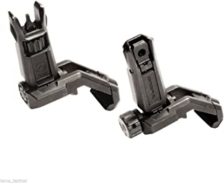 Magpul MBUS Pro Offset Front and Rear Flip-Up Backup Sights, 526-525, Black