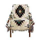 Decken,Sofabezug im amerikanischen Ethno-Stil, geometrisch gestricktes Sucretian Sofakissen -90 *...