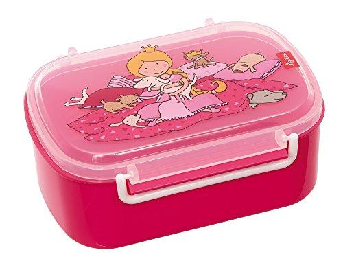 SIGIKID Mädchen, Brotdose mit buntem Druck, Brotzeitbox Pinky Queeny mit Bügelverschluss, empfohlen ab 2 Jahren, rosa, 25007