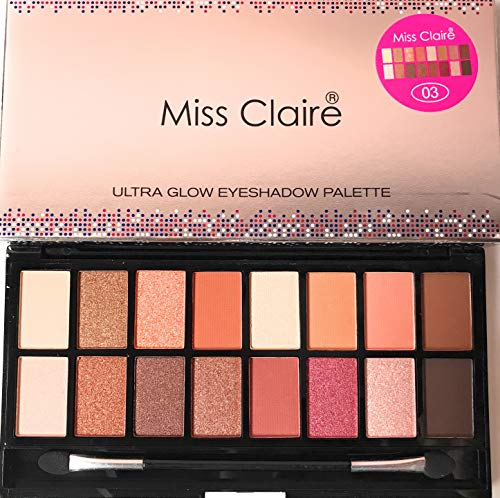 Miss Claire Miss Claire Ultra Glow Eyeshadow Palette 3, Multi,...
