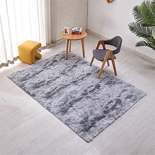 MLKUP Microfiber Thickened Non-Slip Carpet Skin-Friendly Mat Variegated Long-Haired Coffee Table Bedroom Bedside Foot Pad Suitable For Bedroom Bathroom 120x160cm