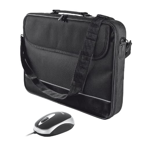 Trust 18902 Borsa per Notebook da 15-16 Pollici con Mouse, Colore Nero