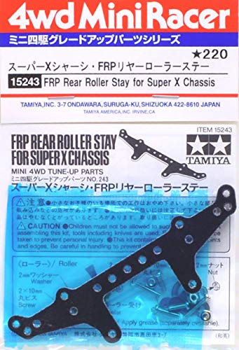 FRP Rear Roller Stay for Super X Chassis Mini 4WD Grade Up Parts Series