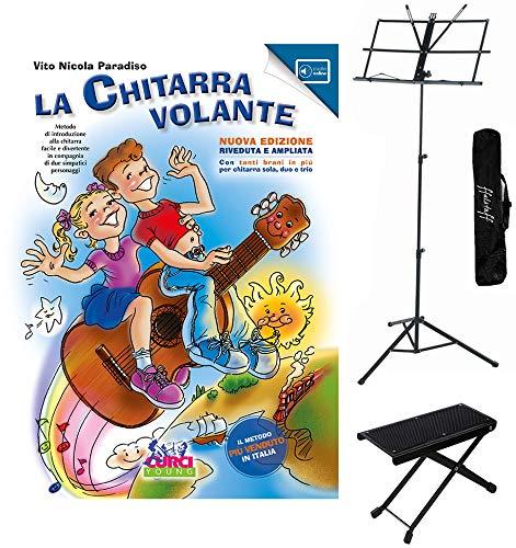 La Chitarra Volante nuova edizione con contenuti online Vol.1, Poggiapiede per Chitarrista, Leggio richiudibile con Borsa.