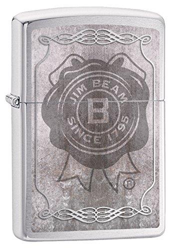 Zippo Jim Beam-Chrome Brushed-Spring 2017 Feuerzeug, Silber, 5.8 x 3.8 x 2 cm