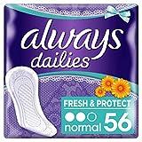 Always Fresh & Protect Slipeinlagen Normal mit Calendula 56 St.