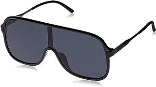 Puma Men's PU0190S PU0190S-002 99 Shield Sunglasses, Black, 99 mm