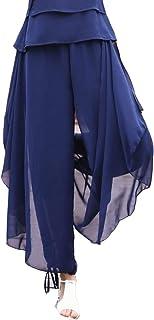 Ymgot スカーチョ ガウチョパンツ レディース キュロット シフォン ワイドフレアパンツ ヨガウェア 社交ダンス ベリーダンス衣装