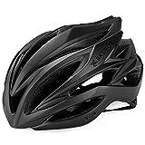 LXJ - Casco de ciclismo para hombre, cómodo, transpirable, para bicicleta de carretera, totalmente moldeado, Hombre, negro