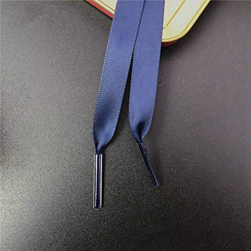 DUKAILIN Shoe Laces For Trainers 1Pair 1Cm Width Satin Silk Ribbon Shoelaces 80/100/120Cm Length Sneaker Sport Shoelace