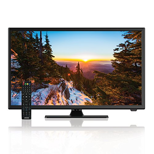 AXESS TVD1805-22 22-Inch 1080p LED HD TV | 12V Car Cord Technology, VGA/HDMI Inputs, Built-in DVD Player, Full Function Remote
