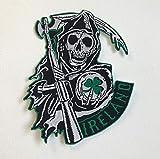 Sons of Anarchy Irlanda - Parche bordado para coser en la parte trasera