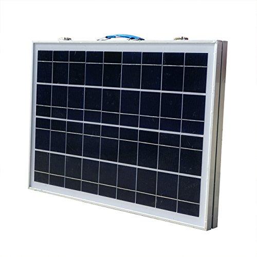 ECO-WORTHY 40W Solarpanel Komplett Set - 12 Volt Solar-Ladegerät - Faltbar Solarmodul 40W - Polykristallin Solarzellen 12V für Camping Wohnwagen Boot