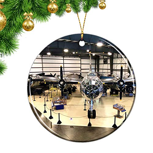 USA Windsor CT Christmas Ornaments USA Windsor Locks Air Museum Connecticut Christmas Ornaments Ceramic Sheet Souvenir Travel Gift