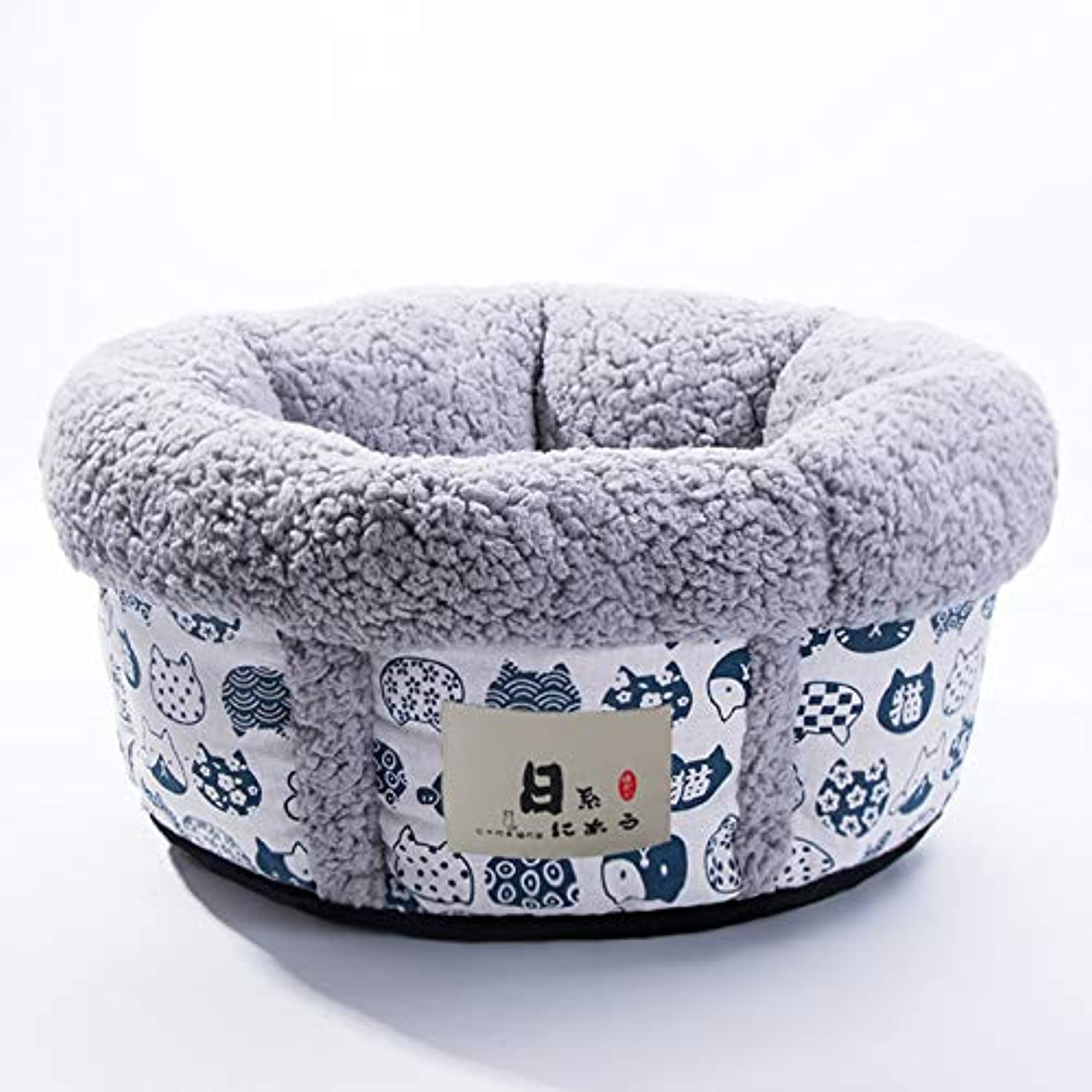 DLwbdx Closed cushions for cat house in Japanese style to keep warm in winter,A big