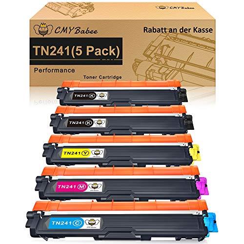 CMYBabee Kompatible Toner kartusche Ersatz für Brother TN241 TN242 TN245 TN246 für MFC-9332CD DCP-9022CDW DCP-9020CDW MFC-9140CDN MFC-9142CDN DCP-9015CDW HL-3142CW HL-3152CDW HL-3170CDW (5 Packung)