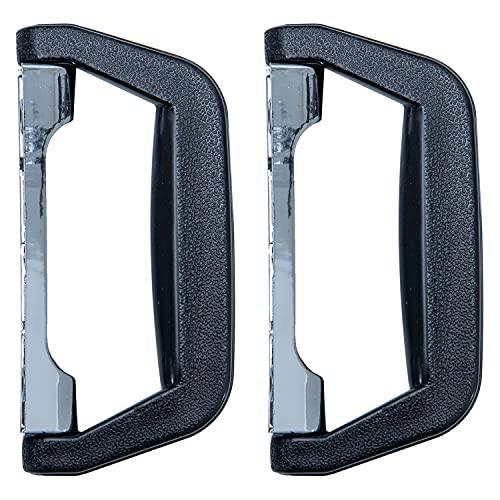 HMF 14973-02 - Asa de plástico para maleta, 2 unidades, 14 x 7 cm, color negro