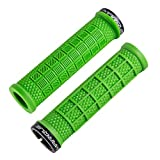 MARQUE Grapple Mountain Bike Handlebar Grips – Single Lock-On Ring MTB and BMX Bicycle Handle Bar with Non-Slip Grip (Green)