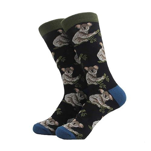 aa32cc2ea Dragon Honor Mens's Novelty Socks Crazy Funny Cute Cool Cotton Luxury Crew  Socks