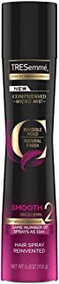 TRESemme Compressed Micro Mist Invisible Hold Natural Finish Smooth Hold Level 2 Hair Spray, Black, 155 g