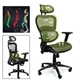Home Mesh Office Chair Ergonomic Desk Task Chair with Lumbar Support and Tilt Limiter, High Back Computer Chair Adjustable Headrest, Executive Chair Adjust 3D-Armrest (Black)