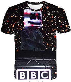 2019 New Katncandix2 Top 100 DJ marshmello 3D Digital Printed Short-sleeved T-shirt men/women