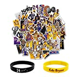 50 PCS Basketball Star Kobe Stickers Durable Small Decal Trendy Vinyl Stickers for Laptop,Water Bottles, Suitcase, Car or Any Flat Surface