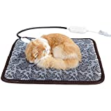 HITECHLIFE Almohadilla térmica para Mascotas para Gatos, Perros, Almohadilla térmica de bajo Voltaje con Cable Anti-masticación, Manta eléctrica Suave Anti-Quemaduras para Mascota recién Nacida
