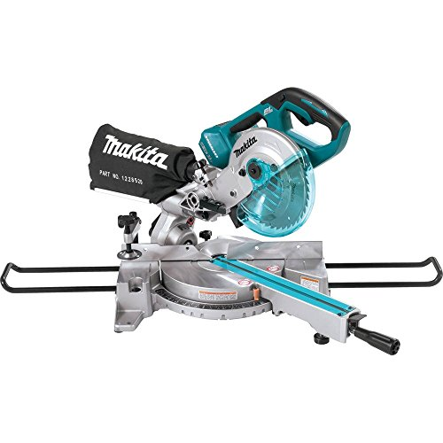 Makita XSL02Z 18V X2 LXT Lithium-Ion Brushless Cordless 7-1/2' Dual Slide Compound Miter Saw, Tool Only