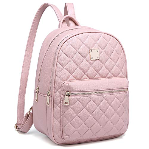 Women Backpack, Myhozee Fashion Rucksack Ladies Lightweight Leather PU Daypack School Travel Small Backpack Handbag for Girls Teenager(Pink)