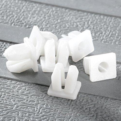 Dophee 50 Pcs 5mm de diamètre Trou Véhicule Clips Plastiques Agrafe Plastique Rivets Plastiques Blancs