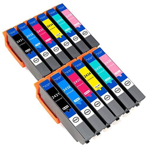 ESMOnline komp. XL Druckerpatronen als Ersatz zu Epson T24xx für Epson Expression Photo XP 960 950 860 850 760 760 55 (T24xx) (12er Set)