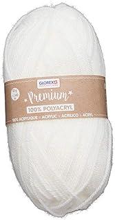 Laine Glorex 5 1001 00 de qualité supérieure - 100% acrylique - Facile à utiliser - Polyvalente - Chaude, douce, ne gratte...