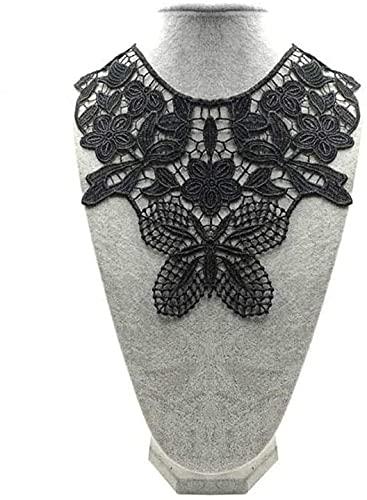 Aeromdale Escote encaje Trim collar bordado floral apliques costura parches para vestido...