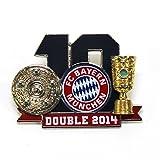 「fc bayer バイエルンミュンヘン オフィシャル 2014ダブルチャンピオン記念 ピンバッジ サッカー サポーター グッズ ピンズ 並行輸入品」の画像