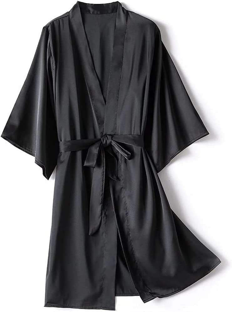 KSFBHC Female Robe Set Satin We OFFer at cheap prices Sexy Nightgown Sleepwear Casual Nig Large special price