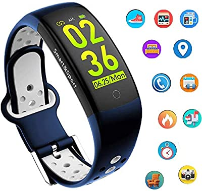 feifuns Fitness Tracker Watch, Smart Bracelet IP68 Waterproof Swim Watch Activity Tracker with Heart Rate Monitor Step Calories Counter Sleep Pedometer Watch for Men Women Kids/Android iOS