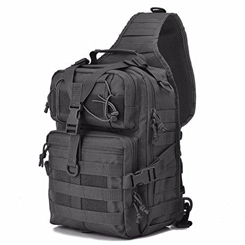 Greenpromise Militärischer taktischer Assault Pack Sling Rucksack Armee Molle Wasserdicht Rucksack Tasche für Outdoor Wandern Camping Jagd 20L (schwarz)