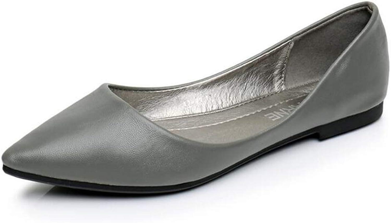Woman PU Leather Flat shoes Fashion Hand-Sewn Leather Loafers Women Flats