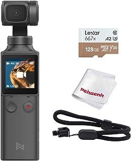 FIMI PALM 3軸ジンバルカメラ 4Kビデオカメラ microSD 128GB付き 128°超広角レンズ ズーム機能 露出&手ぶれ補正 手持ちスタビライザー 顔検出&トラック 外部マイク接続可 Wi-Fi&Bluetoothスマホ対応 8...