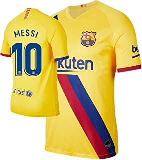 BADAWO 2019-2020 Barcelona #10 Messi Jersey Home Kids Youth Soccer T-Shirt Shorts Socks Red//Blue