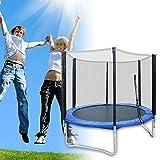 TFCFL Trampolino sportivo da giardino con rete di sicurezza, per bambini e adulti, diametro 183 cm