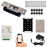 Zemgo FPC-8439 Smart Mobile WiFi Controller for Access Control with Android + Apple App, Web Browser + Smartphone Remote Viewing, 770lbs Electric Strike Fail Safe Fail Secure, Outdoor Keypad/Reader