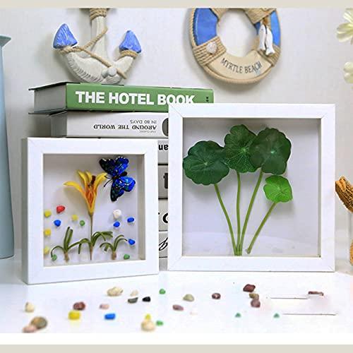 LZYMLG Marco de fotos de 15 x 20 cm, independiente y decoración para colgar en la pared, marco de fotos de madera, color blanco vintage