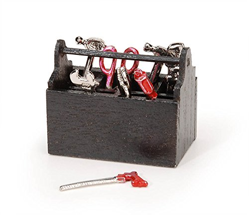 Darice Wood Tool Box with Tools, 1.75-Inch by Darice
