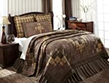 VHC Brands Prescott Luxury King Quilt 120Wx105L Country Rustic Lodge Design, Russet
